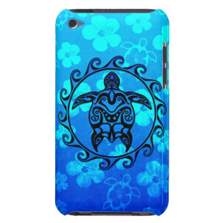 Blue Tribal Turtle Sun iPod Touch Case-Mate Case