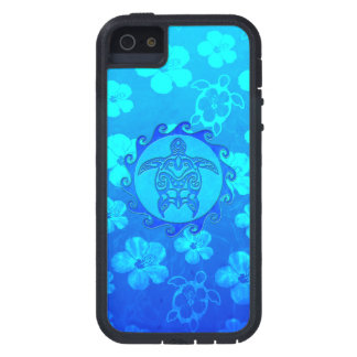 Blue Tribal Turtle Sun Case For iPhone SE/5/5s