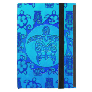 Blue Tribal Turtle Sun Cover For iPad Mini