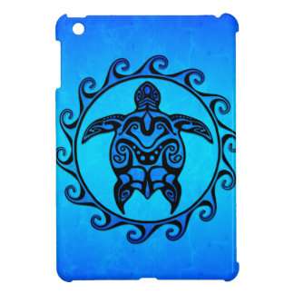 Blue Tribal Turtle Sun iPad Mini Case