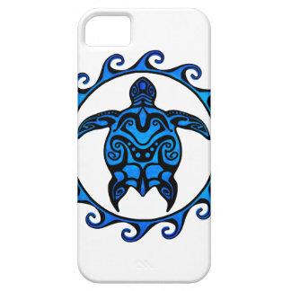Blue Tribal Turtle Sun iPhone SE/5/5s Case
