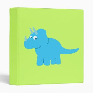 Blue Triceratops Dinosaur 3 Ring Binder