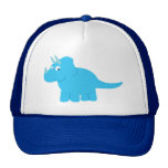 Blue Triceratops Dinosaur Hat