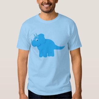 Blue Triceratops Dinosaur Shirt