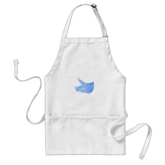 Blue Triceratops Head Adult Apron