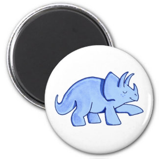 Blue Triceratops Magnet