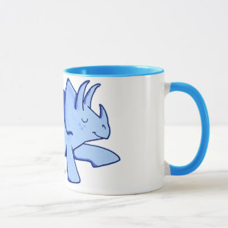 Blue Triceratops Mug