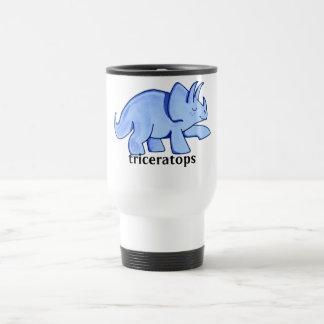 Blue Triceratops 15 Oz Stainless Steel Travel Mug