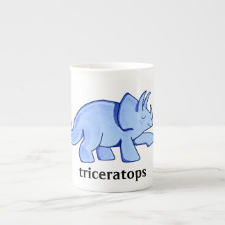 Blue Triceratops Tea Cup