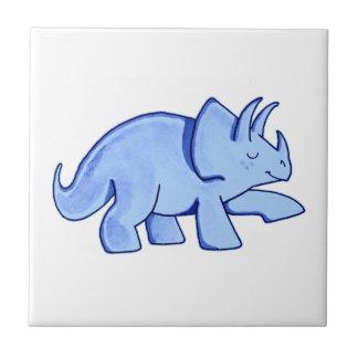 Blue Triceratops Tile