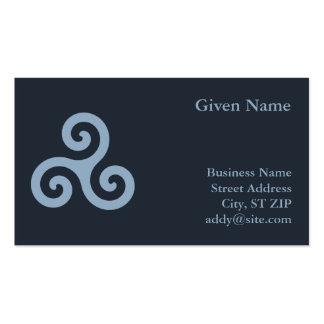 Blue Triskelion Business Card Template