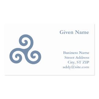 Blue Triskelion Business Card