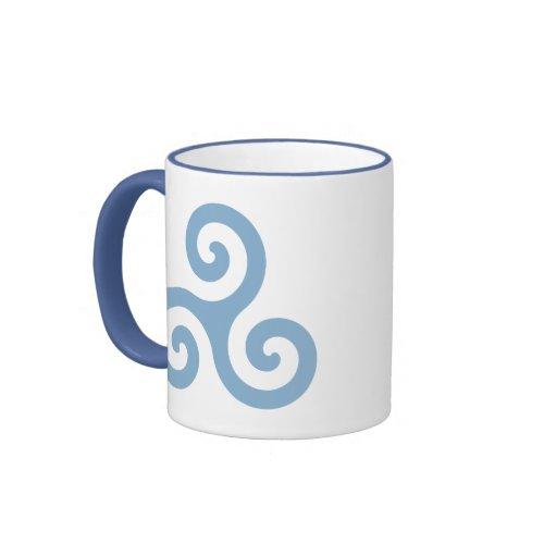 Blue Triskelion mug