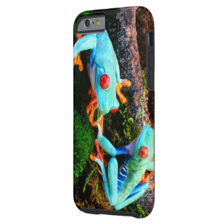 Blue Tropic Frogs Tough iPhone 6 Case
