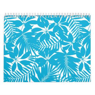 Blue tropical calendar