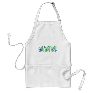 Blue Tropical Fish in Plants Apron