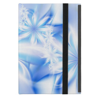 Blue tropical flowers cover for iPad mini