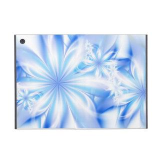 Blue tropical flowers iPad mini case