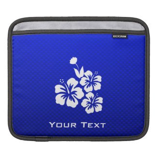 Blue Tropical Flowers Sleeves For iPads