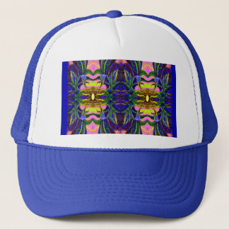 Blue Tropical Lagoon Pattern  by sharles Fine Art Trucker Hat