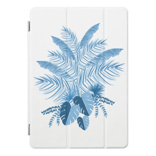 Blue Tropical Leaves iPad Pro Cover