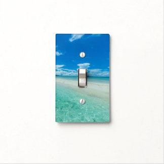 Blue tropical seascape, Palau Light Switch Cover