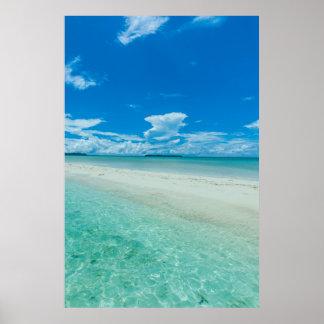 Blue tropical seascape, Palau Poster