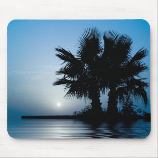 Blue Tropical Sunrise Mouse Pad