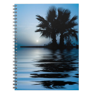 Blue Tropical Sunrise Notebook