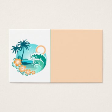 Beach Themed Blue Tropics Business Card