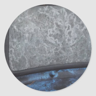 Blue Truck fosted window Classic Round Sticker