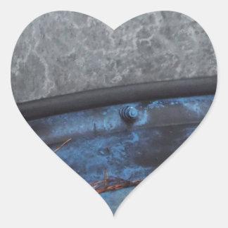 Blue Truck fosted window Heart Sticker