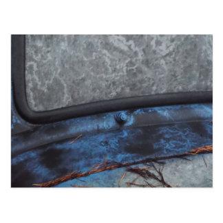 Blue Truck fosted window Postcard