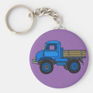 Blue truck keychain