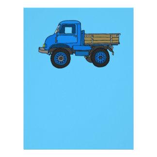 Blue truck letterhead