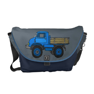Blue truck messenger bag