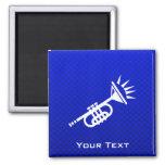 Blue Trumpet Fridge Magnets