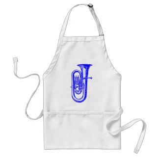 Blue Tuba Adult Apron