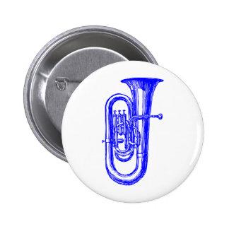 Blue Tuba 2 Inch Round Button