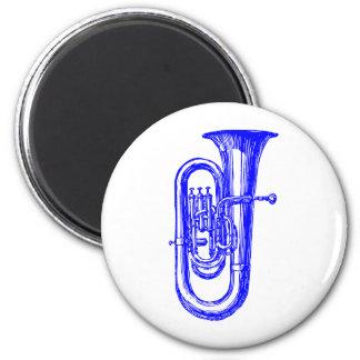 Blue Tuba Magnet