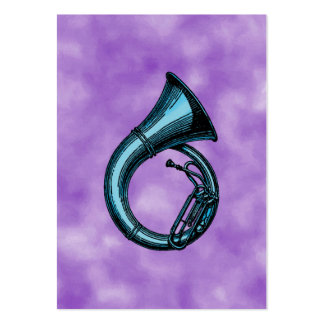 Blue Tuba Painting Large Business Card
