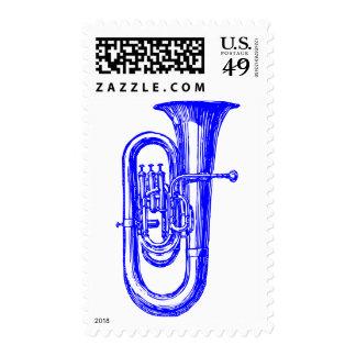 Blue Tuba Stamps