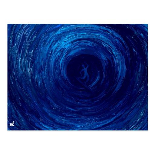 Blue tube post card