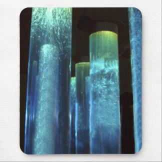 Blue Tubes Mouse Pad