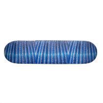Blue Tubes pattern Skateboard Deck