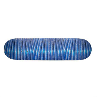 Blue Tubes pattern Skateboard Deck