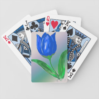 Blue Tulip Playing Cards