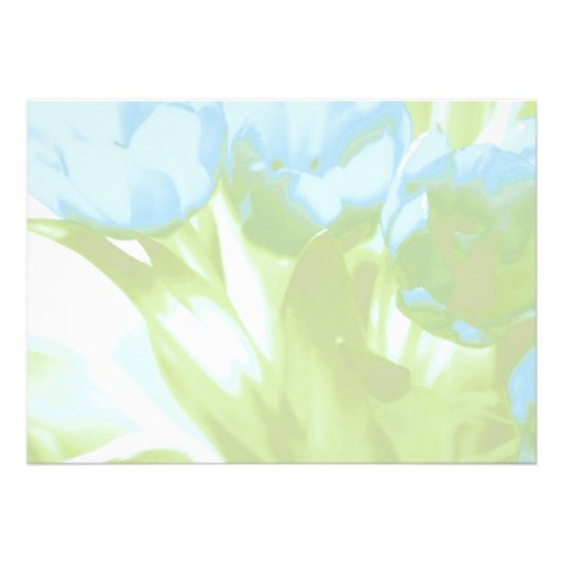 Blue Tulips, Blank, Invitation or Save the Date! Invites