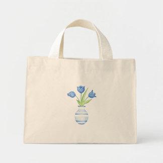 Blue Tulips Blue Bag