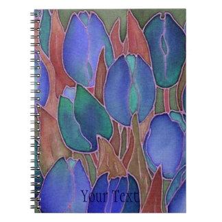 Blue Tulips Spiral-Bound Journal Notebook